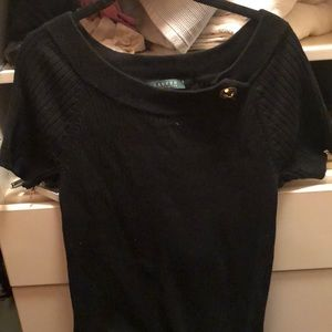 Lauren by Ralph Lauren  Black knit too large